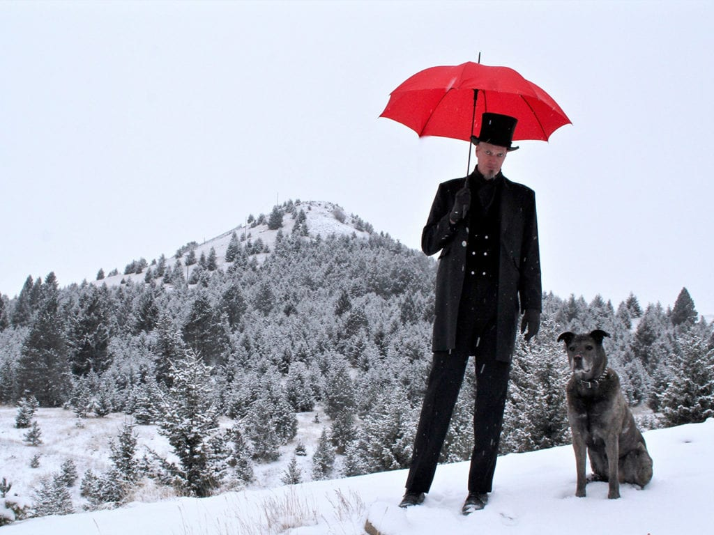 Ainsley Sevier photo of Dark with his dog.