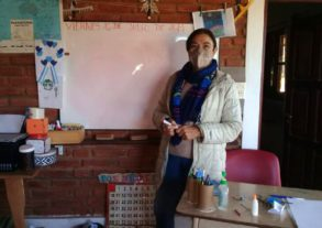 Josefa Luna opened a makeshift classroom in her home's laundry room for around 40 local children.