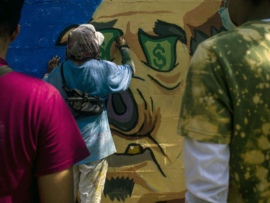 One of the interventions and murals made by artists from the city who want to be heard for their art.