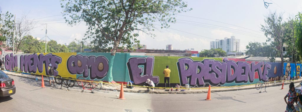 One of the interventions and murals made by artists from the city who want to be heard for their art