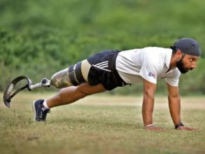 Since his amputation, Major DP Singh has completed 26 half marathons and one full marathon and skydived eight times